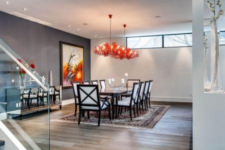 salle à manger - Ashley Park House par Barroso Homes - Toronto, Canada