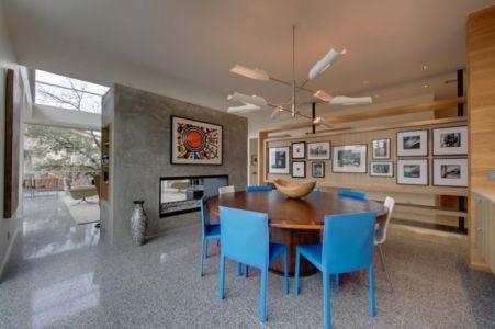salle à manger - City View Residence par Dick Clark Architecture - Austin, Usa