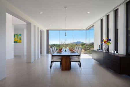 salle à manger - Kim Residence par Tate Studio Architects - Scottsdale, Usa