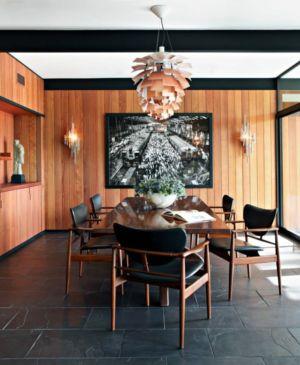 salle à manger - La Cañada Residence par Jamie Bush & Co. - Sierra Madre, Usa