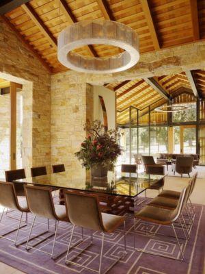 salle à manger - Mountain Wood Residence par Walker Warner Architects -Woodside, Usa
