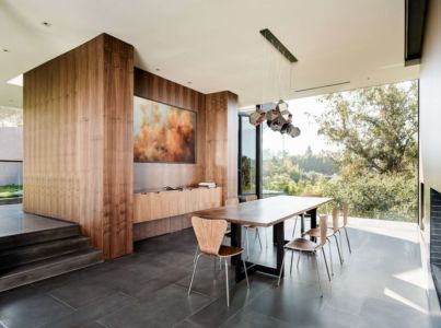 salle à manger - Oak Pass Main House par Walker Workshop - Los Angeles, Usa