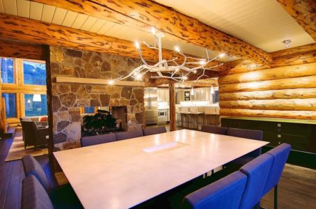 salle à manger - chalet contemporain Thunderhead, Colorado, Usa