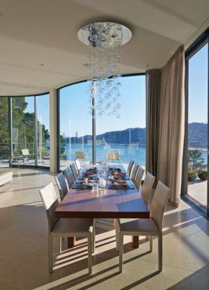 salle à manger - maison exclusive par Polsky Perlstein Architectes - San Francisco, USA