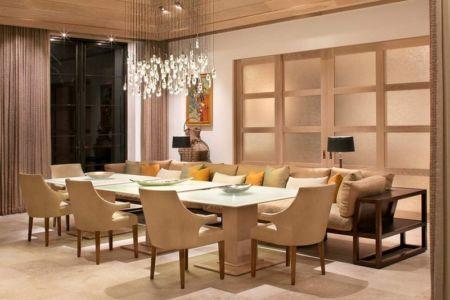 salle à manger - villa par Krutz Homes - Floride, USA