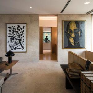 salle d'art - Vivienda en Son Vida par Negre Studio & Rambla 9 Arquitectura - Palma de Majorque, Espagne