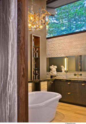 salle de Bains & Baignoire - Valhalla Résidence par RKD Architects - Californie, USA