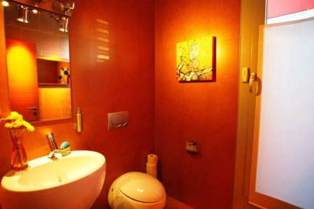 salle de bains - Barbo House par Ralph Büeler (Bend Group) - Genève, Suisse