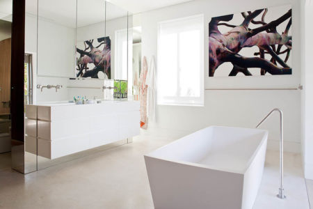 salle de bains - Bulwarra - maison kate Blanchett - Sydney, Australie