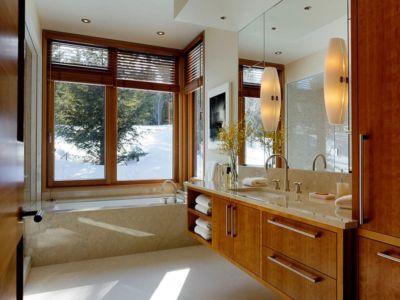 salle de bains - Butte Residence par Carney Logan Burke Architects - Jackson, Usa