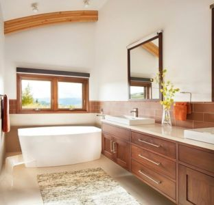 salle de bains - Contemporary Western par Hoyt Architects & CTA Group - Usa