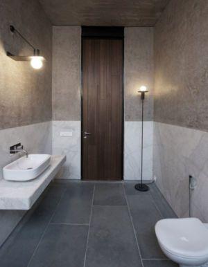 salle de bains - Deolali House par Spam Design Architects - Deolali, Inde