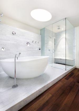 salle de bains - East Windsor Residence par Alterstudio - Austin, Usa - Photo Paul Finkel