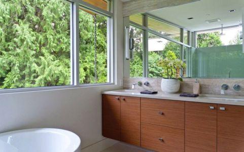 salle de bains - Forest House par Garret Cord Werner - Vancouver, Canada
