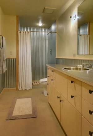 salle de bains - Foster Loop par Balance Associates - Mazama,USA