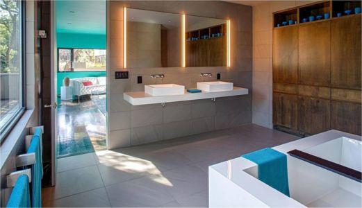 salle de bains - Hills-Residence par Specht Harpman - Texas, USA