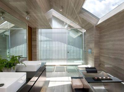 salle de bains - Home-Walls par Mink Architects - Singapour