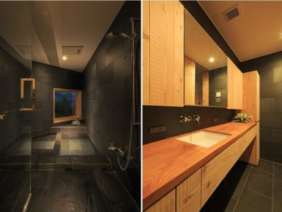 salle de bains - House In Itsuura par Life Style Koubou - Ibaraki Prefecture, Japon