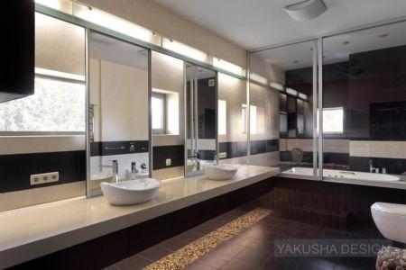 salle de bains - House «Ecominimalizm». par Yakusha Design - Dnipropetrovsk, Ukraine