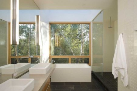 salle de bains - HudsonPanos Residence par Swatt & Miers Architects - Healdsburg, Usa