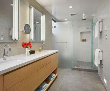salle de bains - In-Out par Wnuk Spurlock Architecture - Stinson Beach, Californie, USA