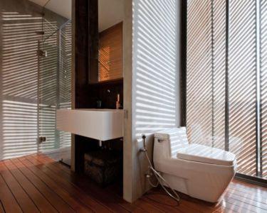 salle de bains - KA-House par IDIN Architects - Pak Chong, Thaïlande
