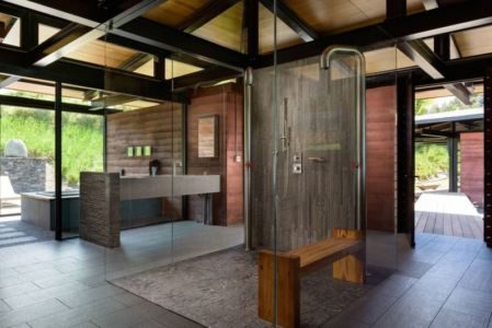 salle de bains - Kapalua-Home par Olson Kundig Kaprzycki Designs - Hawaï, USA