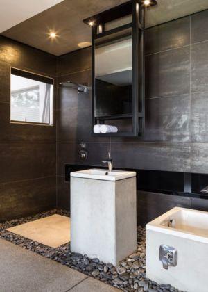 salle de bains - Kloof-Road-House par Nico van der Meulen Architects - Johannesburg, Afrique du Sud