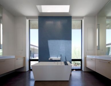 salle de bains - Levin Residence par Ibarra Rosano Design Architects - Marana, Usa