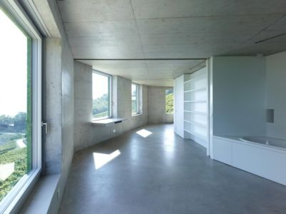 salle de bains - Maison Iseli par François Meyer architecture - Venthôme, Suisse