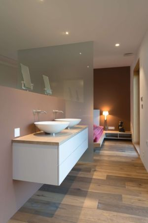 salle de bains - Maison bois par BIRO GASPERIC - Velesovo, Slovenia