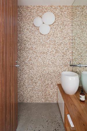salle de bains - Maison contemporaine bois béton par BG Architecture - Melbourne, Australie