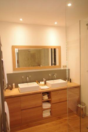 salle de bains - Maison l'Estelle par François Primault architecte - Moirax, France