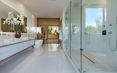 salle de bains - Miami Beach Residence par New Stone Age - Miami Beach, Usa