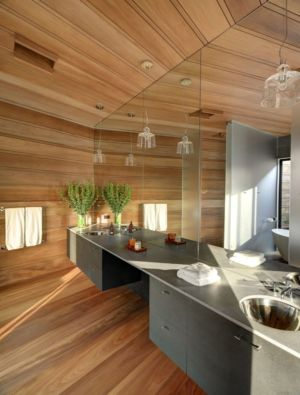 salle de bains - Mothersill par Bates Masi Architects - Water Mill, Usa