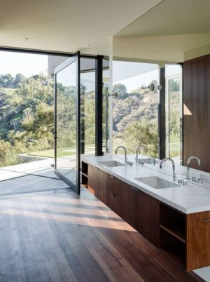 salle de bains - Oak Pass Main House par Walker Workshop - Los Angeles, Usa