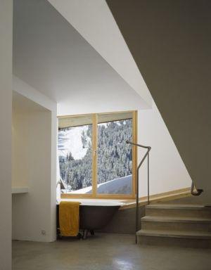 salle de bains - Panix résidence par Drexler-Guinand-Jauslin architekten, Panex, Suisse