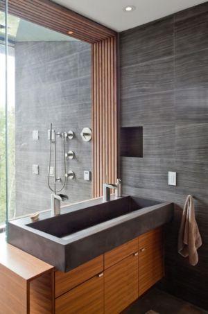 salle de bains - Port Hope House par Teeple Architects - Ontario, Canada