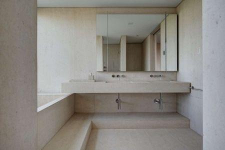 salle de bains - Shore House par Stelle Lomont Rouhani Architects -  Amagansett, Usa