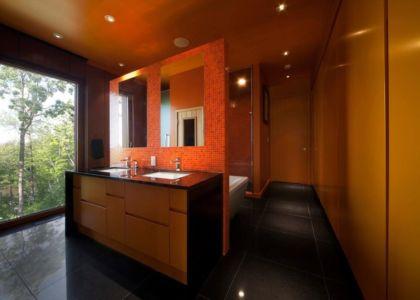 salle de bains - Terre et Eau par Blouin Tardif Architecture - Rigaud, Canada