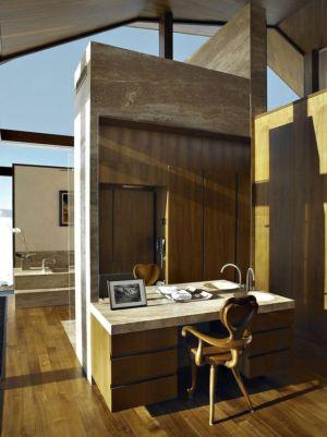 salle de bains - Wildcat Ridge residence par Voorsanger Architects - Aspen, Usa
