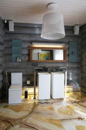 salle de bains - Wooden Cottage par Elena Sherbakova près de Moscou, Russie