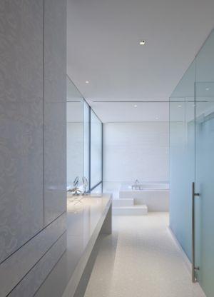 salle de bains épurée - Tresarca House par assemblageSTUDIO - Las Vegas, Nevada, Usa