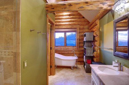 salle de bains - chalet contemporain Thunderhead, Colorado, Usa