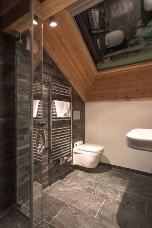 salle de bains - chalet-dag par Chevalier Architectes - Chamonix, France