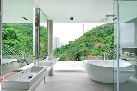 salle de bains - construction écologique par Millimeter Interior Design Limited - Hong Kong