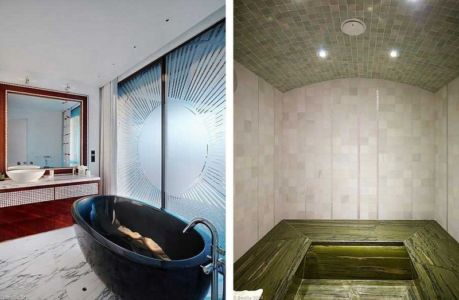 salle de bains et sauna - villa location - France