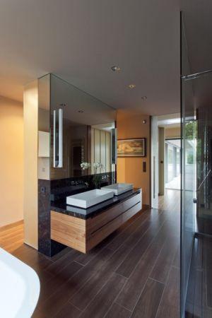 salle de bains, lavabos - Reviving Mies par Architéma - Buda Hills, Hongrie