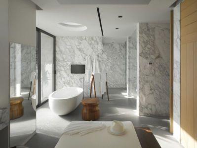 salle de bains - luxury residence par Ezequiel Farca - Marina de Puerto Vallarta, Mexique
