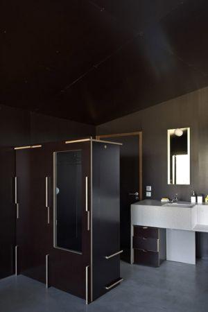 salle de bains - maisons contemporaines par Bona-Lemercier - Monticello, France